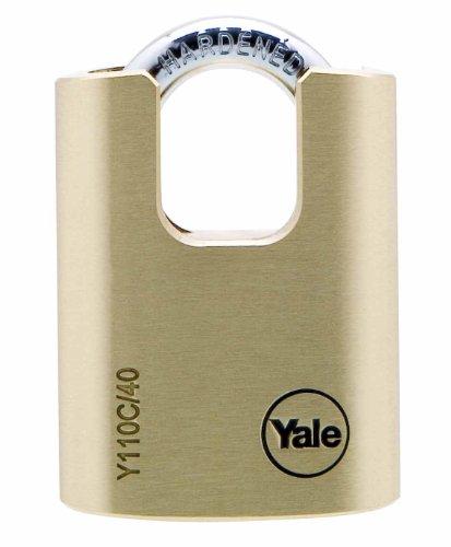Yale Y110C/40/119/1 Candado de Seguridad Con Arco Cerrado, 40 mm