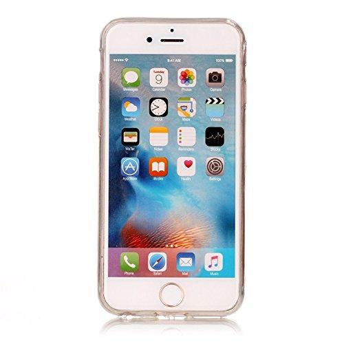 Vandot 1X 0.5MM 3D HD Exklusive Ultra Thin Leicht TPU Silikon Hülle Matt Für iPhone 6S 6 4.7 inch Muster Pattern Protektiv Case Skin Back Cover Tasche Anti Finger Kratzer Premium Shell Slim Etui Schal C-Big Ananas
