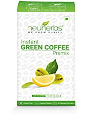 Neuherbs® Instant Green Coffee Premix with Lemon Flavour for Weight Management