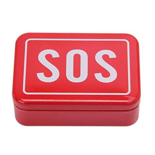 Rtengtunn Box, SOS Tin Case Deckelbehälter für Survival Gear Kits Erste-Hilfe-Pille