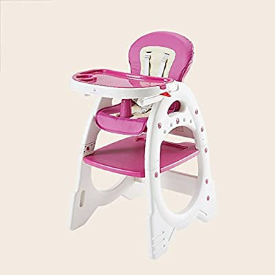 Sofa stool Brisk- Children's Dining Chair Multifunction Baby Dining Table And Chair Child Plastic Dining Chair Baby Seat Sketchpad Adjustable Gear (Color : PINK)