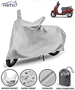 Fabtec Waterproof Scooty Cover For Honda Activa 4G With Duster Glove( Multicolour)