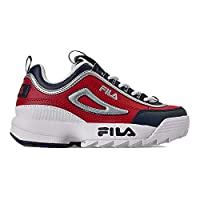 Fila Kids Disruptor II Sneakers (10.5, Fila Red/White)