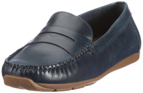 Clarks Hill Side 20350215, Mocassini donna Blu (Blau (Navy Leather))