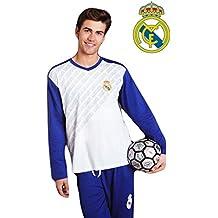 Pijama Hombre REAL MADRID Oficial Blanco y Azul 2017-2018