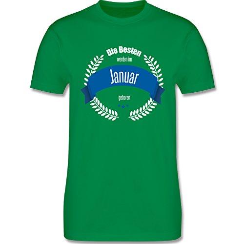 Geburtstag - Die Besten werden im Januar geboren - Herren Premium T-Shirt Grün