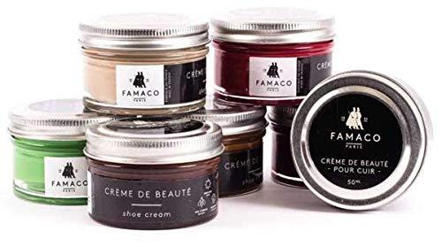Famaco Unisex-Erwachsene Cream Polish Schuhe & Handtaschen, Violett (Purple Aubergine), 50 mL -