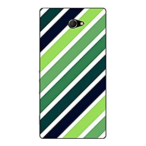 Jugaaduu Stripes Pattern Back Cover Case For Sony Xperia M2