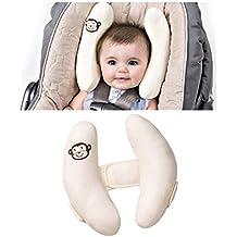GudeHome Bebé Almohadilla Soporte para Cabeza Viaje Cojín cervical Niños almohada de asiento de coche Viaje Cochecito