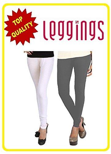Combo of-2 Ultra Soft Cotton/Lycra Churidar Basic Solid Regular, Best Seller Leggings...