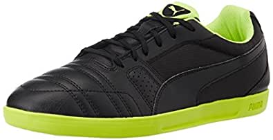 Puma Men's PaulistaNovo Black and Safety Yellow Sneakers - 10UK/India (44.5EU)