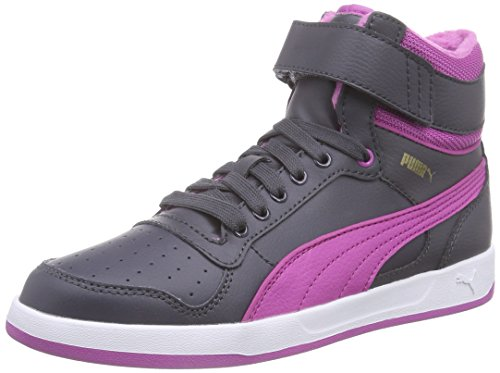 Puma Liza Mid Fur Jr, Baskets Hautes Fille