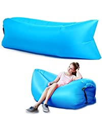ShoppoStreet Inflatable Portable Hangout Lazy Air Bag Sofa Bed Suitable For Camping, Travel, Beach And Other Activities...