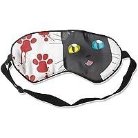 Sleep Eyes Masks Black Cat Pattern Sleeping Mask For Travelling, Night Noon Nap, Mediation Or Yoga preisvergleich bei billige-tabletten.eu