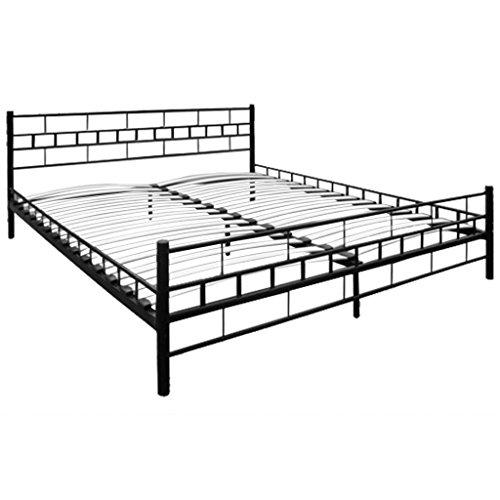 Metallbett schwarz 160x200  metallbett 160x200 schwarz - Bestseller Shop für Möbel und ...