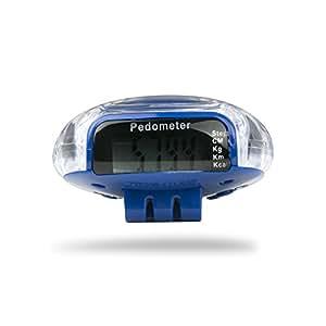 Incutex Schrittzähler Stepcounter Pedometer mit LCD Display in blau