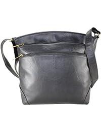 Fargo Sun'dry PU Leather Women's & Girl's Sling Shoulder Bag (Black_FGO-014)