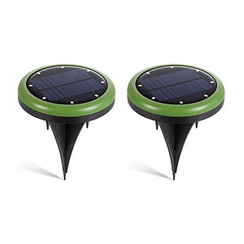 TOOGOO allume le chemin de jardin impermeable a l'eau solaire de lumiere au sol allume avec 8 LEDs