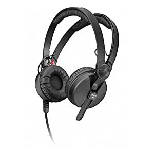 Sennheiser HD 25-1 II Closed Headphone for ENG/DJ use with split headband, 1.5m steel cable/70 ohms right angle