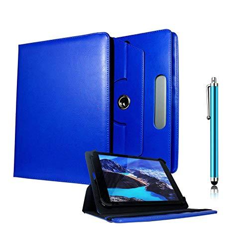 Galaxy Store Blau Universal PU Leder Tasche Hülle 360 Grad Drehung Case mit Kapazitiver Stift Touch für Odys Neo Quad 10 Zoll (9-10 Zoll)
