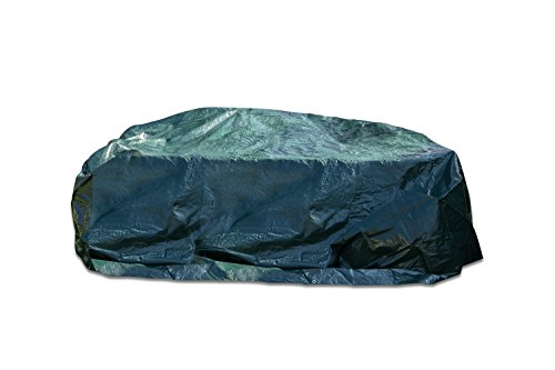Gartenmöbel Abdeckung / Abdeckplane Sonneninsel, Tisch oder Stühle - Wasserdichte Schutzhülle, UV-Schutz, Kälteresistent, Wind- und Wetterfest das ganze Jahr (250 x 210 x 90, Grün) - von Groeneck