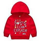 WFRAU Kleinkind Baby Weihnachten Pullover Jungen Mädchen Winter X-Mas Santa Deer Print Langarm...