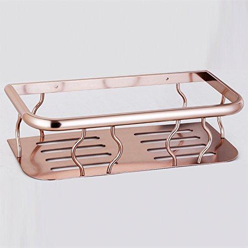 Pallet Rack (ZYZX Platz umkippen Aluminium Bad Regale Regal Badezimmer Küche hohlen Pallet Rack Wandmontage)