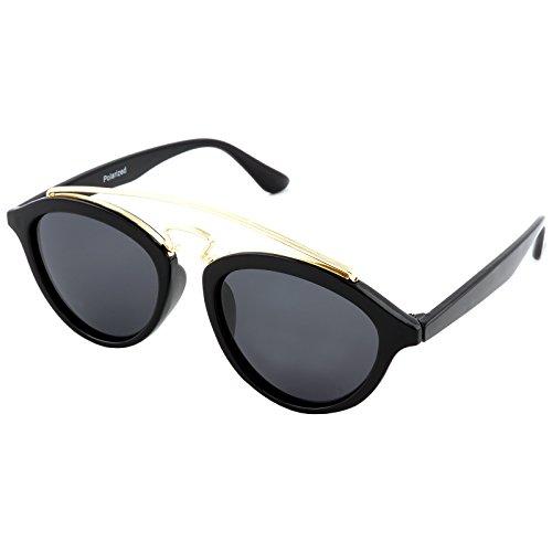 City Vision Polarisierende Damen Cat-Eye Sonnenbrille 21630 Schwarz Schwarz/Gold