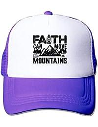 030f8e4f5e0 Aeykis Faith Can Move Mountains Unisex Mesh Hat Baseball Caps Cool Grid Hat  Adjustable Trucker Cap