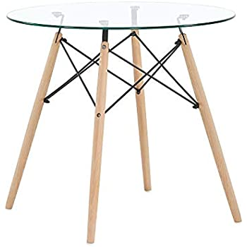 Table ARVID à style 6 Relaxdays 8 manger ronde scandinave dWQBxorCe