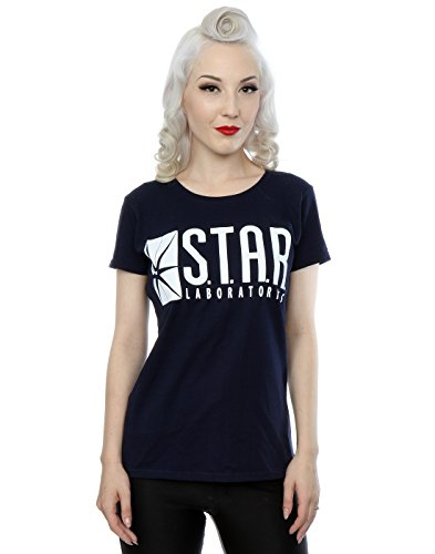 DC Comics Damen The Flash STAR Labs T-Shirt Medium Deep Navy