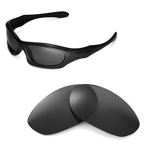 Walleva Ersatzgläser für Oakley Monster Dog Sonnenbrille -Mehrfache Optionen (Schwarz - polarisiert)