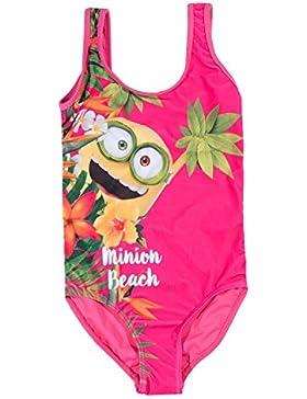 Minions Despicable Me Mädchen Badeanzug - pink