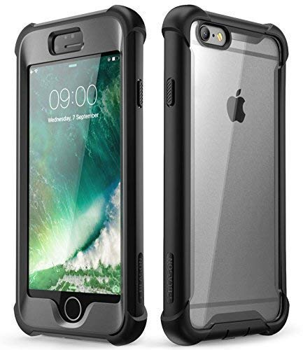 iPhone 6S Plus Fall, iPhone 6 Plus Case, i-Blason [Ares] Fullbody Rugged Clear Bumper mit integriertem Displayschutz für Apple iPhone 6S Plus/6 Plus 14 cm, schwarz I-blason Premium Bumper Case