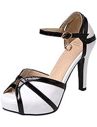 9f42450d43e Amazon.es  BLANCO Y NEGRO - Zapatos de tacón   Zapatos para mujer ...