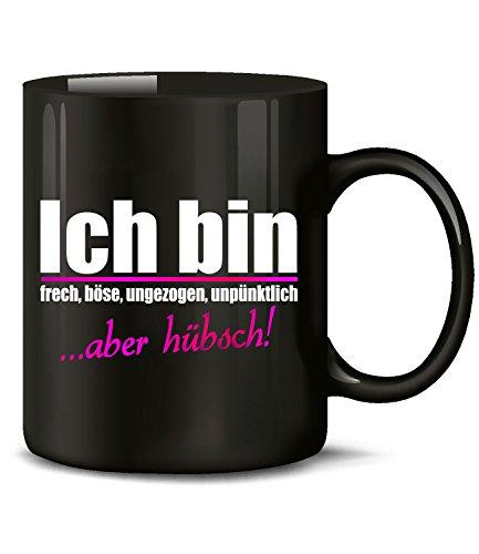 , UNGEZOGEN, UNPÜNKTLICH ABER HÜBSCH 4898(Schwarz) (Lustige Hashtags Für Halloween)