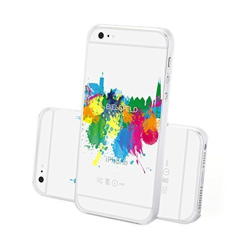 FINOO Trasparente Custodia cellulare Hardcase Citazioni - Casa dolce casa, iPhone 6/6S Plus Bielefeld
