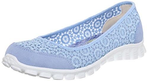 Skechers - Ez Flex 2sweetpea, Ballerine Donna Blu (Azzurro)
