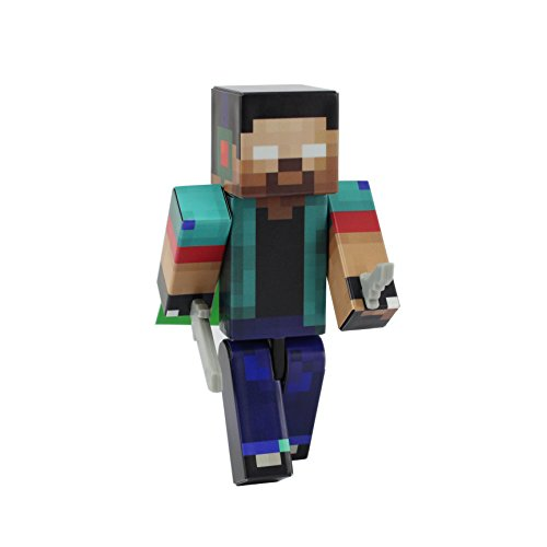 Herobrine Action Figure Toy, 10cm Custom Series Figurines, EnderToys