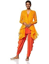 Payal Pratap Women's Asymmetrical Hemline Salwar Suit Set