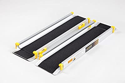 Telescopic Channel Ramps 7ft (213cm long) with black grip surface
