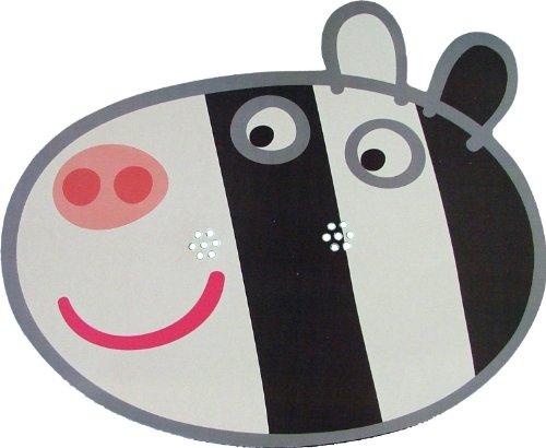 Kids Stars Peppa Pig - Zoe Zebra - Masque de Visage Fait en Carte Rigide