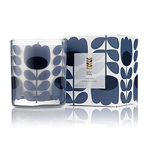 Orla Kiely Lavender Scented Candle, Purple, 200 g