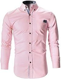 FLATSEVEN Mens Designer Slim Fit Dress Shirts