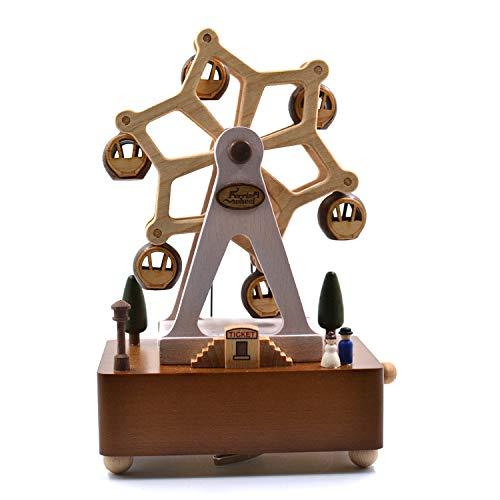 SJQ Taiwans Jeancard Holz Spieluhr Acht Spieluhr Weihnachten Carnon Rotierenden Riesenrad Geburtstagsgeschenk, Riesenrad (Weihnachts-riesenrad)