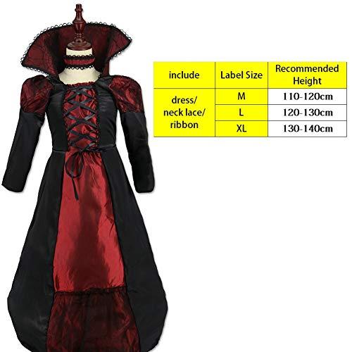FIREWSJ Halloween Kostüm Dekoration Halloween-Kostüme Für Kinder Beängstigend Mädchen Kinder Hexe Kostüm Mädchen Csplay Rave Party Prinzessin Kleid (Kostüm Mädchen Beängstigend)