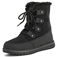 Polar Boot Womens Fleece Lined Snow Winter Waterproof Hiking Durable Ankle Boots