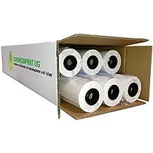 (0,19€/m²) Plotterpapier 6 Rollen ungestrichen   90gr/m², 91,4cm (914mm) b, 50m l, CAD, unbeschichtet