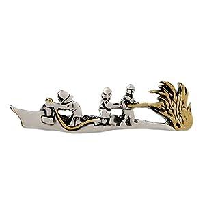 magdalena r. Feuerwehr Krawattennadel Krawattenklammer m. Feuerwehrlöschzug Bicolor – teilvergoldet glänzend + dunkler Exklusivbox