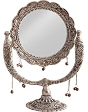 WebelKart Jaipurcrafts Aluminium Antique Mirror (12-inch Si
